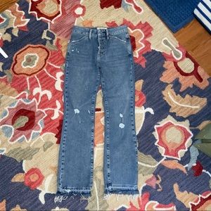 Free People high waisted cropped flare jeans